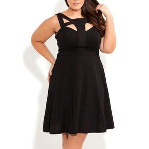 City Chic Textured Weave Dress